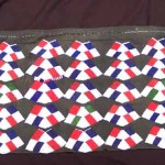 A baTonga woman's backskirt decorated with beaded chevrons
